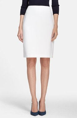 St. John Collection  - Crepe Marocain Pencil Skirt