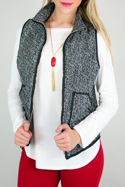 Shoptiques - Printed Quilted Vest