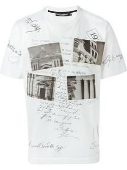Dolce & Gabbana - Postcard Print T-Shirt