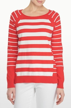 NYDJ - Stripe Boat Neck Sweater