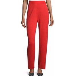 Escada - High-Waist Straight-Leg Pants