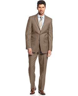 Kenneth Cole Reaction - Tan Tick Slim-Fit Suit