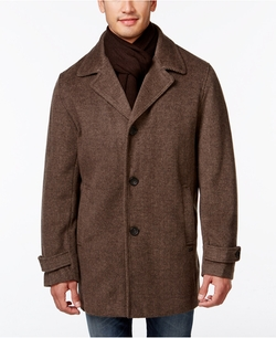 Calvin Klein - Single-Breasted Scarf Overcoat
