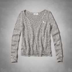 Abercrombie Kids - Supersoft Shine V-Neck Sweater