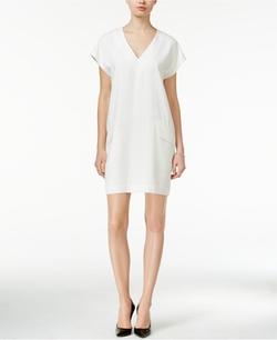 Bar III  - V-Neck Shift Dress