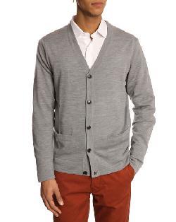 FILIPPA K  - Fine Merinos Grey Cardigan