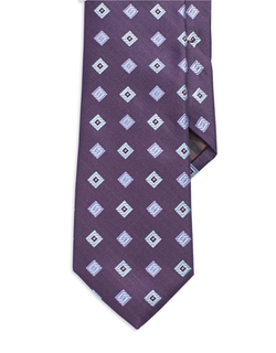 Black Brown 1826  - Textured Geometric Tie