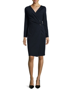 Escada  - Long-Sleeve Wrap Dondi Dress