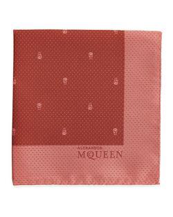 Alexander McQueen  - Skull Pindot Pocket Square