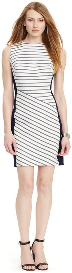 Lauren Ralph Lauren - Sleeveless Striped Dress
