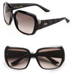 Dior - Glam Textured Square Plastic Sunglasses