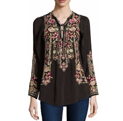 Johnny Was - Fabio Embroidered Blouse
