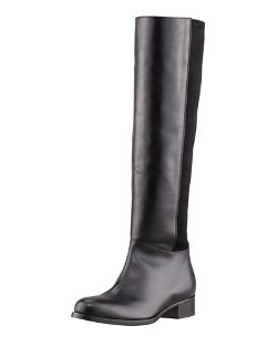 Jimmy Choo   - Brava Fitted Stretch Leather Knee Boot