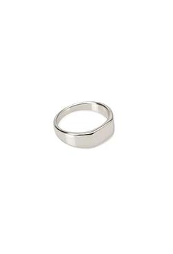 21 Men - Polished Flat-Top Ring