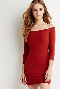 Forever 21 - Off-The-Shoulder Bodycon Dress