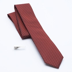 Apt. 9 - Columbus Circle Dot Skinny Tie & Tie Bar