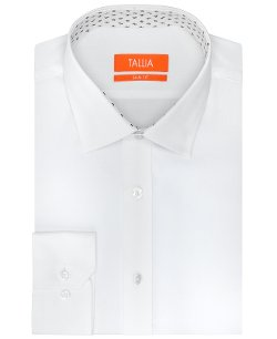 Tallia  - Slim-Fit Solid Poplin White Dress Shirt