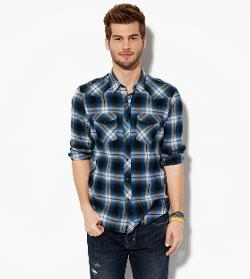 American Eagle Outfitters - PLAID WESTERN SHIRT