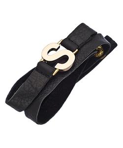 Lisa Stewart - Leather Garamond Wrap Bracelet