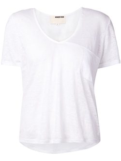 Minden Chan - Check Pocket V-Neck T-Shirt
