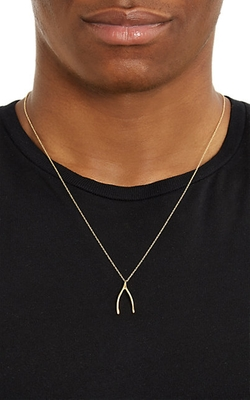 Dean Harris - Gold Wishbone Pendant & Chain Necklace