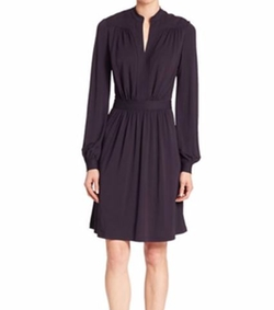 Tory Burch - Solid Bishop Sleeve Dress