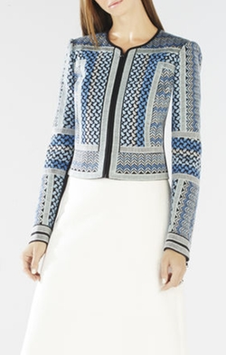 BCBGMAXAZRIA - Duke Embroidered Woven Jacquard Jacket