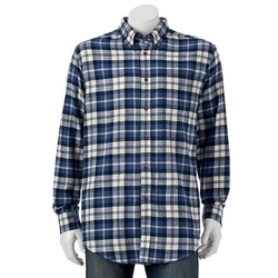 Croft & Barrow - Plaid Flannel Button-Down Shirt