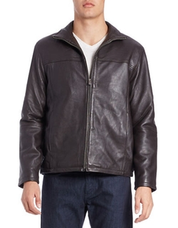 Boston Harbour  - Leather Moto Jacket