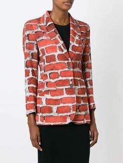 Moschino Vintage - Brick Print Blazer