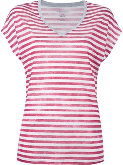 Majestic Filatures - Striped V-Neck T-Shirt