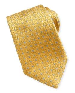 Ermenegildo Zegna - Dotted Flower Neat Tie, Yellow