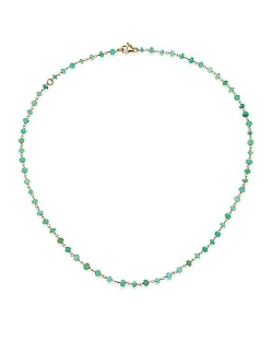 Mija - Chrysoprase Beaded Chain Necklace