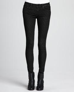 D-ID Denim  - Faux-Leather Quilted Skinny Pants