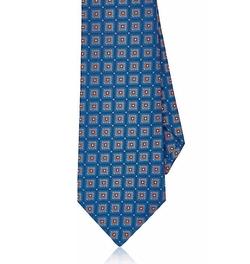 Kiton - Medallion-Pattern Silk Necktie
