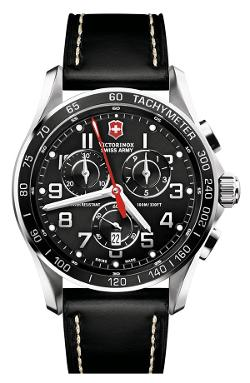 Victorinox Swiss Army  - Chrono Classic XLS Leather Strap Watch