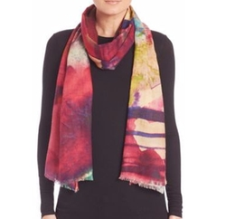 Bindya - Watercolor Cashmere & Silk Scarf