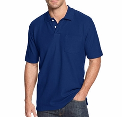 John Ashford - Pocket Pique Polo Shirt