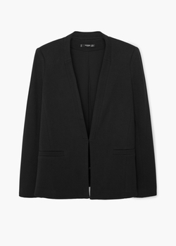 Mango - Textured Cotton Blazer