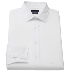 Croft & Barrow - Slim-Fit Solid Broadcloth Spread-Collar Dress Shirt