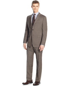 Lauren Ralph Lauren  - Slim-Fit Mid Brown Glenplaid Suit