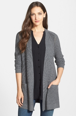 Eileen Fisher - Lightweight Wool Long Cardigan