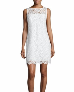 Trina Turk - Sleeveless Lace Sheath Dress
