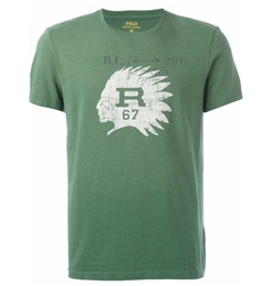 Ralph Lauren - Distressed Profile Print T-Shirt