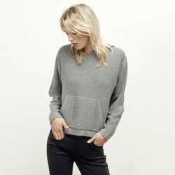 Kenneth Cole New York - Cropped Knit Hoodie