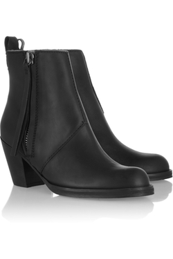 Acne Studios - The Pistol leather Ankle Boots