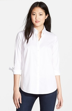 Halogen - Long Stretch Poplin Shirt