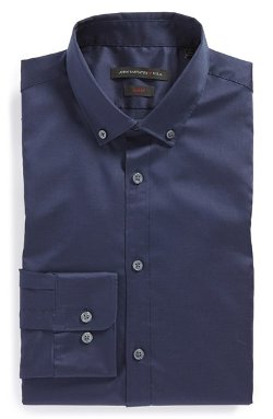 John Varvatos Star USA  - Slim Fit Solid Dress Shirt
