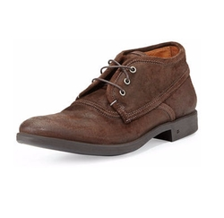 John Varvatos - Dylan Distressed-Leather Chukka Boot