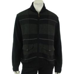 Tasso Elba Collezione - Plaid Full Zip Sweater